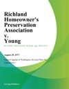 Richland Homeowners Preservation Association V Young