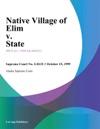 Native Village Of Elim V State