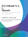 U Citibank NA V Macarle