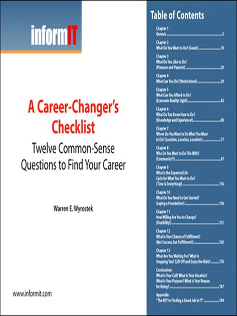 A Career-Changer's Checklist: Twelve Common-Sense Questions to Find Your  Career (Digital Short Cut) by Wendell Odom, Rus Healy & Denise Donohue on