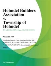 Holmdel Builders Association V. Township Of Holmdel