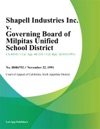 Shapell Industries Inc V Governing Board Of Milpitas Unified School District