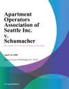Apartment Operators Association Of Seattle Inc V Schumacher