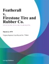 Featherall V Firestone Tire And Rubber Co