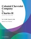Colonial Chevrolet Company V Charles H
