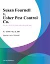 Susan Fournell V Usher Pest Control Co