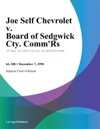 Joe Self Chevrolet V Board Of Sedgwick Cty CommRs