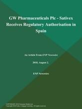 GW Pharmaceuticals Plc - Sativex Receives Regulatory Authorisation In Spain