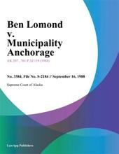 Ben Lomond V. Municipality Anchorage