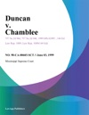 Duncan V Chamblee