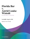 Florida Bar V Astrid Louise Wistedt