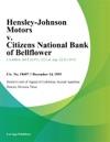 Hensley-Johnson Motors V Citizens National Bank Of Bellflower