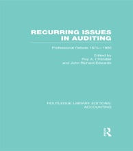 Recurring Issues In Auditing (RLE Accounting)