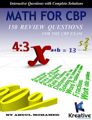 Math for CBP - Abdul Mohamed book
