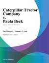 Caterpillar Tractor Company V Paula Beck