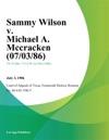 Sammy Wilson V Michael A Mccracken
