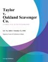 Taylor V Oakland Scavenger Co