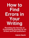 How To Find Errors In Your Writing