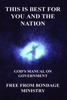 Free From Bondage Ministry - This Is Best For You And The Nation. God's Manual On Government. artwork