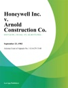 Honeywell Inc V Arnold Construction Co