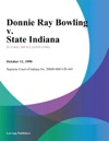 Donnie Ray Bowling V State Indiana