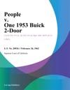 People V One 1953 Buick 2-Door