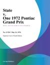 State V One 1972 Pontiac Grand Prix