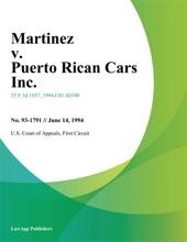 Martinez V. Puerto Rican Cars Inc.
