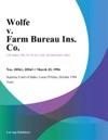 Wolfe V Farm Bureau Ins Co