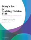 Dustys Inc V Auditing Division Utah