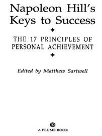 Napoleon Hill S Keys To Success