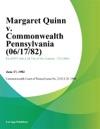 Margaret Quinn V Commonwealth Pennsylvania