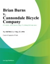 052794 Brian Burns V Cannondale Bicycle Company