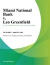 Miami National Bank V Leo Greenfield