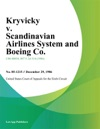 Kryvicky V Scandinavian Airlines System And Boeing Co