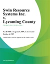 Swin Resource Systems Inc V Lycoming County