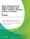 State Department Of Highway Safety And Motor Vehicles Division Of Driver Licenses V Possati