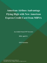 American Airlines Aadvantage Flying High with New American Express Credit Card from MBNA