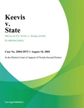 Keevis V. State