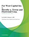 Far West Capital Inc V Dorothy A Towne And Fleetwood Corp
