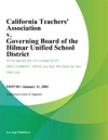 California Teachers Association V Governing Board Of The Hilmar Unified School District