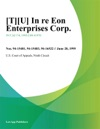 TU In Re Eon Enterprises Corp