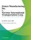 Zemco Manufacturing Inc V Navistar International Transportation Corp