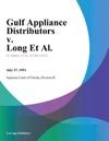 Gulf Appliance Distributors V Long Et Al