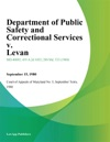 Department Of Public Safety And Correctional Services V Levan