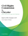 Civil Rights Commission V Chrysler