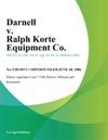 Darnell V Ralph Korte Equipment Co