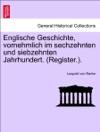 Englische Geschichte Vornehmlich Im Sechzehnten Und Siebzehnten Jahrhundert Register Siebenter Band