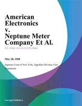 American Electronics V. Neptune Meter Company Et Al.