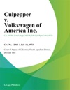 Culpepper V Volkswagen Of America Inc